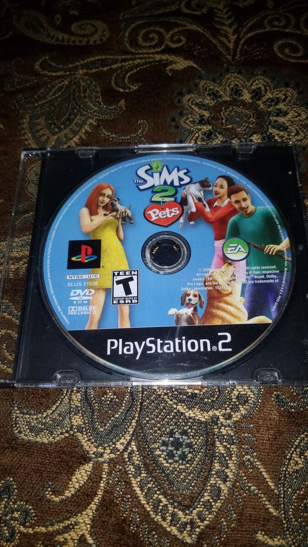 Sims 2 pets ps2 game