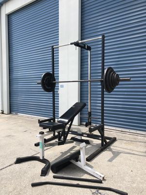 Body solid rack home gym set for Sale in Oviedo, FL