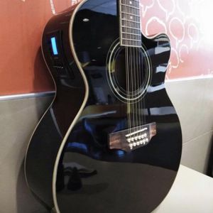 New 12 String Acoustic Electric Requinto Guitar Black Combo with Gig Bag & Accessories Guitarra Electrica Acústica Docerola 12 Cuerdas for Sale in Lynwood, CA