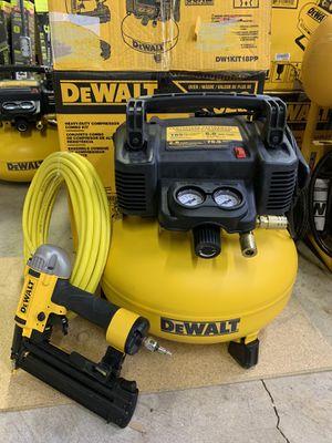 DEWALT 18-Gauge Brad Nailer and 6 Gal. Heavy Duty Pancake Electric Air Compressor Combo Kit (1-Tool) for Sale in Arlington, TX