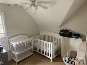 Graco white nursery set w/ rocking chair for Sale in Atlanta, GA