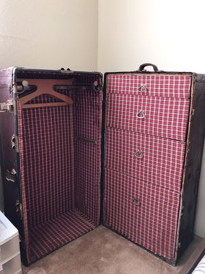 Antique Steamer travel trunk for Sale in Alhambra, CA