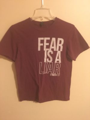Fear is a liar Tshirt size small for Sale in Wichita, KS