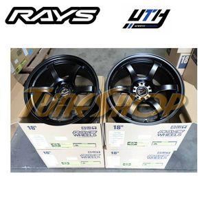 RAYS 57DR 18x9.5 5x114 +22 EVO WRX STI SG BLACK for Sale in El Monte, CA