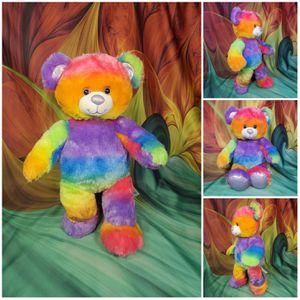 """Build A Bear Rainbow Tie Dye Neon 16"""" Teddy Sparkly Nose Ears Paws Retired 2014 for Sale in Dale, TX"""