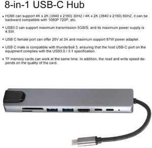 8-in-1 USB-C to Type-C USB 3.0 4K Video Adapter RJ45 Adapter HUB Multi-Function For PC and Mac for Sale in Middletown, CT