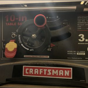 Craftman Table Saw 3hp Good Condition With Stand for Sale in Bellevue, WA