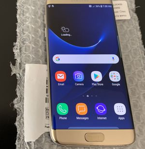 Unlocked Samsung Galaxy S7 Edge (Silver) 32GB - Great Condition for Sale in Dunedin, FL