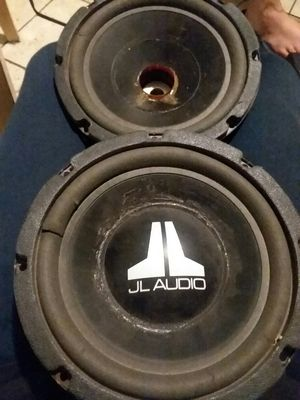 8s JL Audio subs just need new surrounding they work for Sale in Chicago Heights, IL