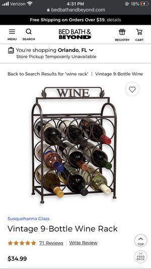 Vintage Wine Rack for Sale in Bay Lake, FL