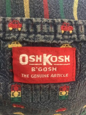 OshKosh B'Gosh 3T Bib Overall Cars 🚗 & Lights VINTAGE for Sale in Arlington, TX