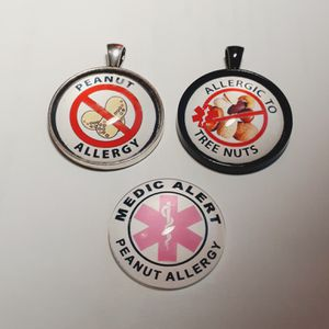 Tree nut, peanut allergy alert necklace for Sale in Tacoma, WA