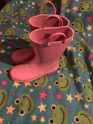 Girls new rain boots size 2 for Sale in Sanger, CA