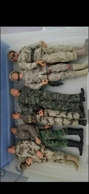 "(6)- 12"" EST. (GI JOES) LIGHTLY USED! OLDER! INCLUDES ACCESSORIES! for Sale in Delray Beach, FL"