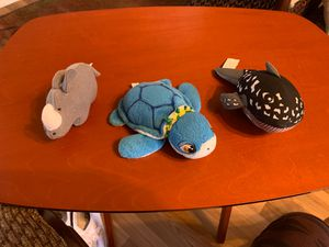 3 stuffed animals turtle, whale, rhino for Sale in Nolanville, TX