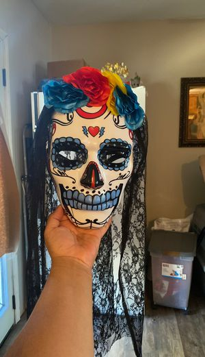 Day of the dead mask with veil. for Sale in San Antonio, TX