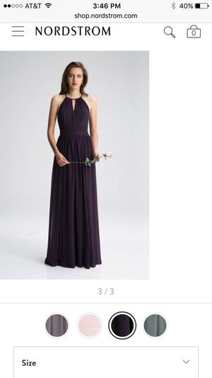Levkoff Keyhole Chiffon A Line Bridesmaid Gown-Plum Color Size 12 for Sale in Houston, TX