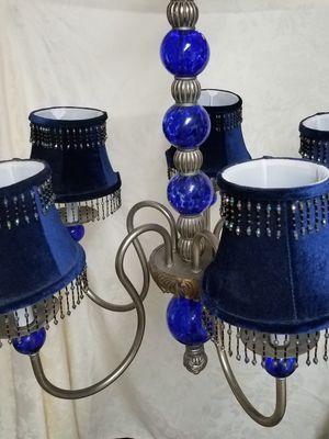 Fancy cobalt blue candelabra chandelier. for Sale in Pompano Beach, FL