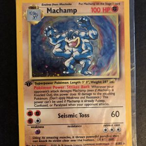 First Edition Holographic Machamp for Sale in Coventry, RI