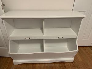 Sauder Pogo Bookcase Storage bin-soft white for Sale in North Riverside, IL