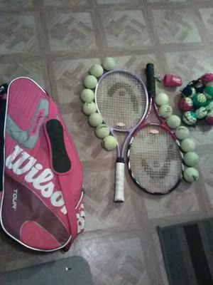 Man and woman's tennis rackets Head elite lite and tour pro. And Wilson (K) factor bag for Sale in Mesa, AZ