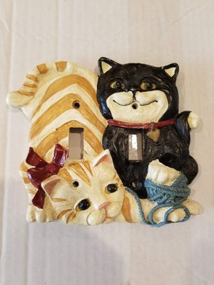 Cat Switch Plate and Hang Tile Combo for Sale in Los Angeles, CA