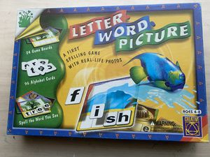 Letter word picture. Word spelling game for Sale in Riverside, CA