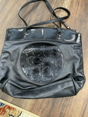 Coach Black Leather Tote Bag for Sale in Irvine, CA