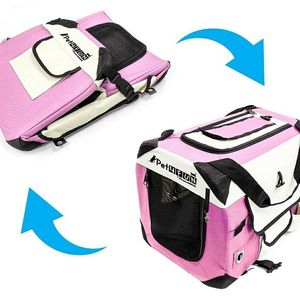 Folding Pet Carrier In Pink for Sale in Kent, WA