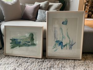 Watercolor Paintings w/ Professional Gallery Frames for Sale in Sammamish, WA