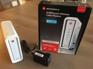 Motorola cable modem for Sale in Vancouver, WA