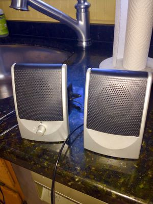 Desktop or laptop speakers with Auxiliary plugs for Sale in Framingham, MA