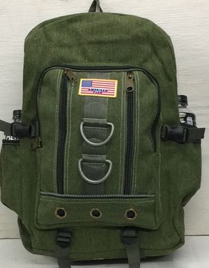 """Large hiking cotton canvas backpack size 21""""x14""""x7"""" for Sale in Maywood, CA"""