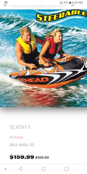 SLASH II ...... Inflatable ........ Double Rider ....... Towable for Sale in Moreno Valley, CA