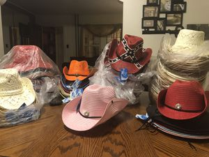 Pink button cowboy hat for Sale in Camden, NJ