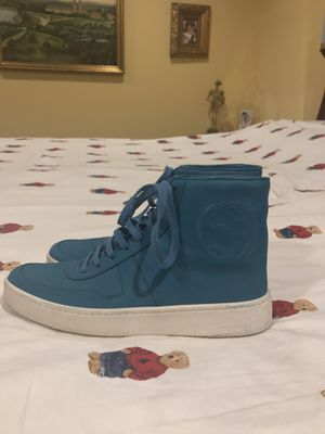 Authentic Gucci Blue High Top Sneakers Women's US 37 for Sale in River Grove, IL