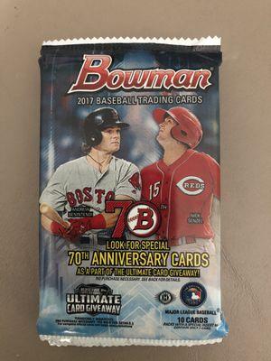 2017 Bowman Baseball Hobby PACK for Sale in Kent, WA