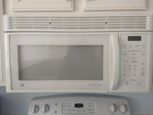 GE Profile refrigerator, GE electric range and GE microwave for Sale in Redmond, WA