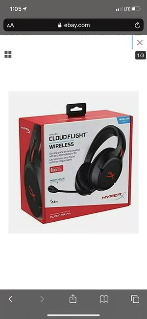 Hyperx hyper x cloud flight wireless headset for Sale in Chicago, IL