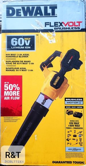 DEWALT 125 MPH 600 CFM FLEXVOLT 60V MAX Lithium-Ion Cordless Axial Blower with (1) 9.0Ah Battery and Charger Included for Sale in Fullerton, CA