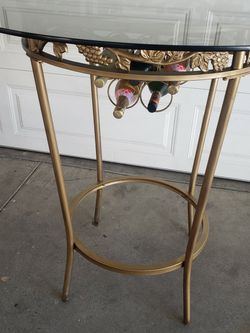 GLASS AND METAL OUTSIDE TABLE for Sale in Pasadena,  CA