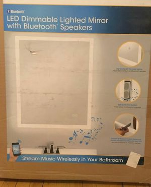 Home Netwerks LED Dimmable Lighted Mirror w/ Bluetooth Speakers for Sale in Bellflower, CA
