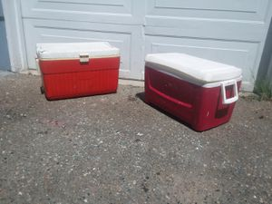 Two large coolers 50 quarts for Sale in SeaTac, WA