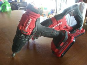 craftsman reciprocating saw and hammer drill w batteries. for Sale in Seattle, WA