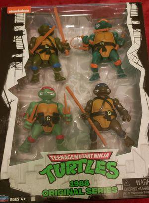 TMNT Teenage Mutant Ninja Turtles Classic Vintage 1988 Action Figure 4 Pack New! for Sale in Bloomfield, NJ