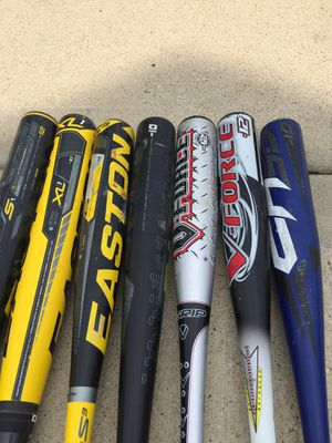 Various little league bats. Make offer. LK44 bat (black and green one in middle) no longer available. for Sale in Plainfield, IL