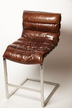 Restoration Hardware Oviedo leather counter stool. for Sale in Marina del Rey, CA