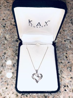 1/10 tw diamond and silver necklace from Kay jewelers for Sale in Claremont, CA