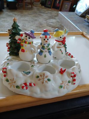 Snowman candle holder for Sale in Hoquiam, WA
