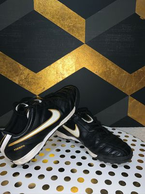 Nike Tiempo soccer shoes size 2.5y for Sale in Carrollton, TX